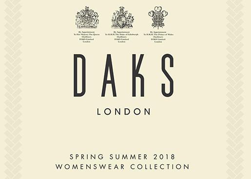 DAKS 2018年春夏ロンドンファッションショー開催のお知らせ