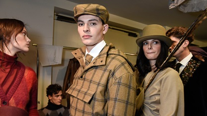 AW19 Milan Mens Womens Collection Backstage